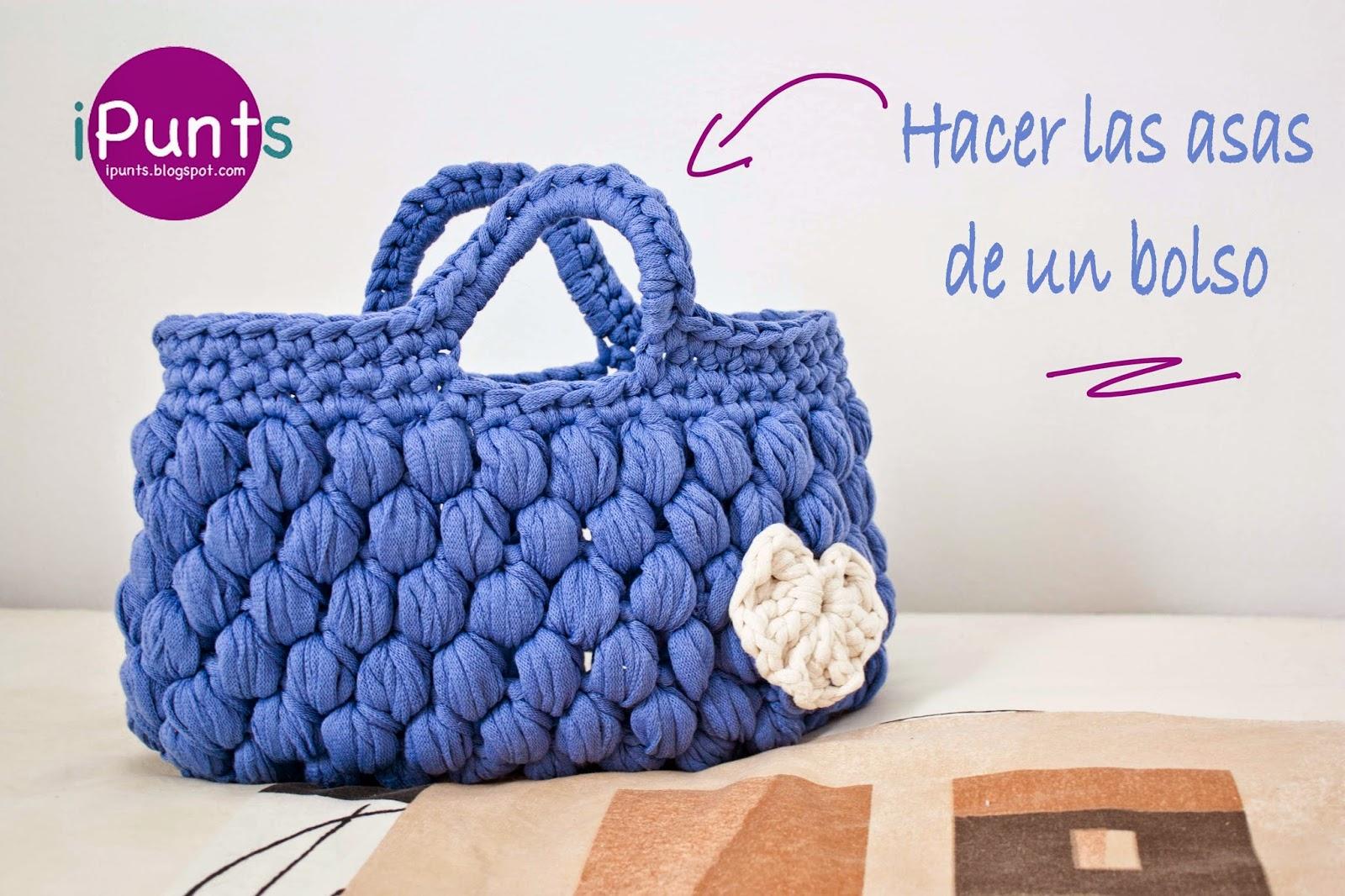ipunts bolso trapillo crochet asas ganchillo tutorial