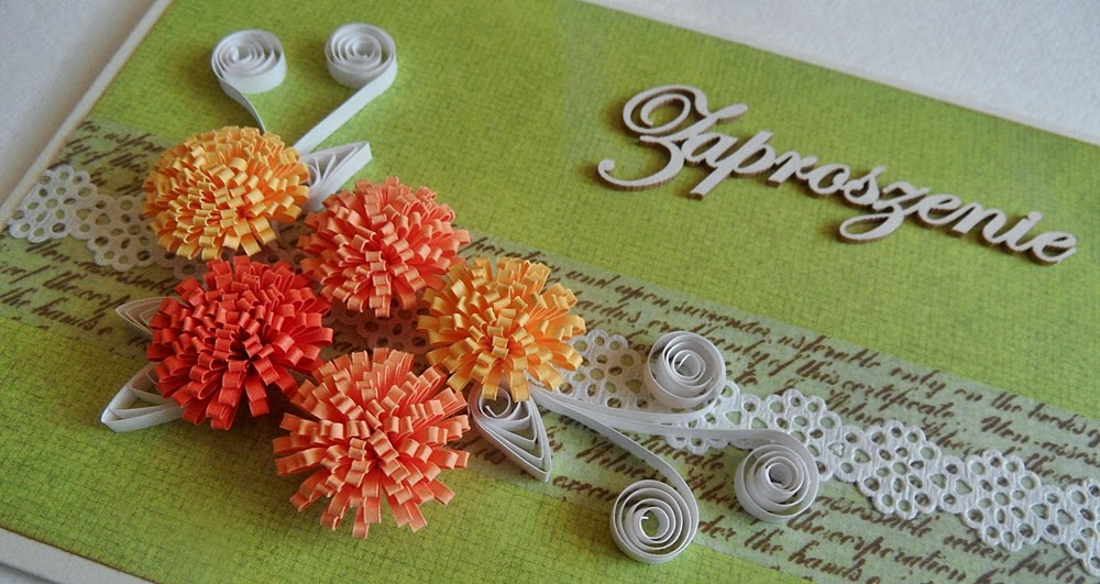 Quilled flowers dimention