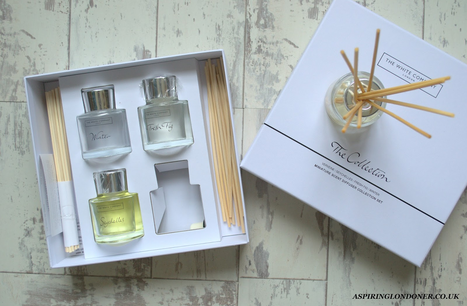 Christmas Gift Guide For Her The White Company Mini Reed Diffuser Collection - Aspiring Londoner