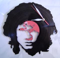 """Piringan Hitam Jam Motif Jim Morrison """"The Doors"""""""