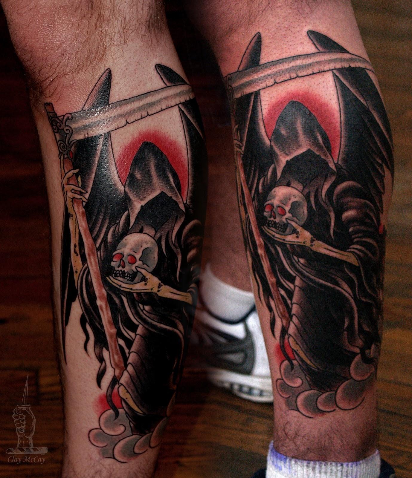 Tattoo master tats angel ov death for Angel of death tattoo