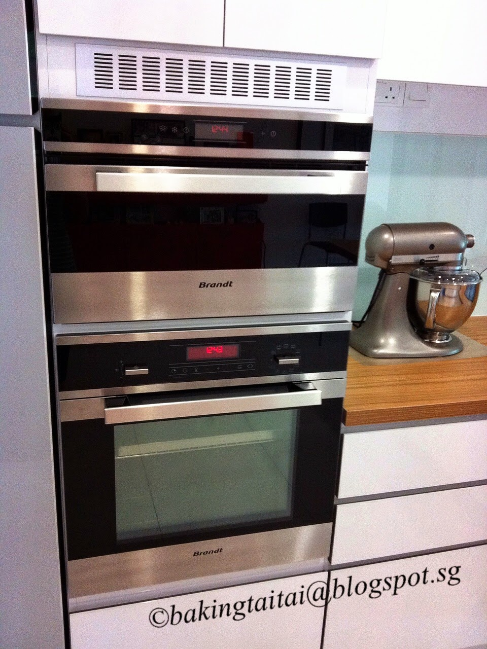 My New Dry Kitchen and Brandt Kitchen appliances 我的新烘焙乐园和厨房电器
