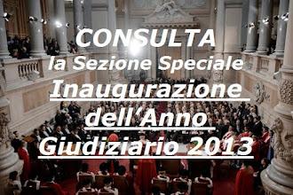 Speciale INAUGURAZIONE ANNO GIUDIZIARIO 2013