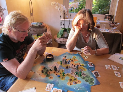Tobago - The sun setting on the players of this treasure island game