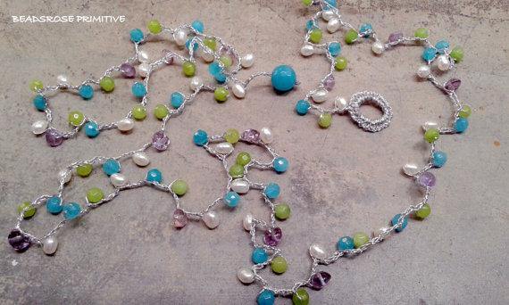 Beadsrose Primitive 11 Collana Lariat Vinny