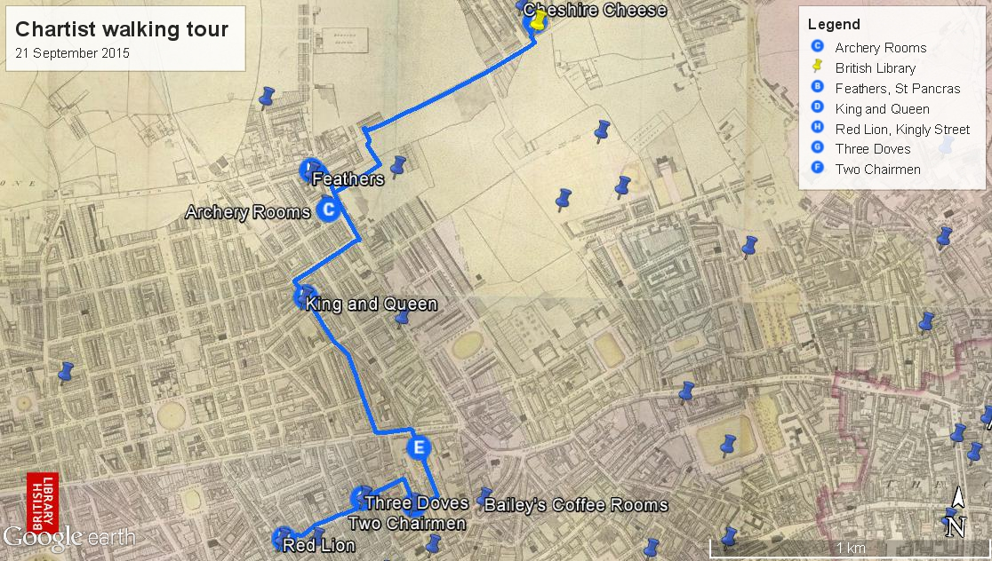 chartist walking tour of london with british library labs