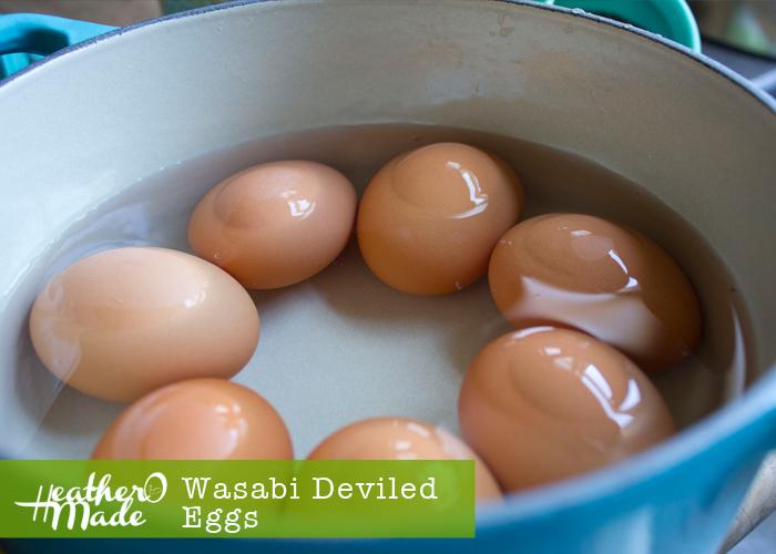 wasabi deviled eggs. recipe.