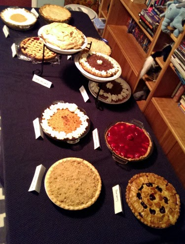 Pi day dessert pie table 2014