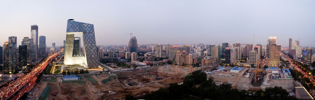 Picture of the construction site in Beijing