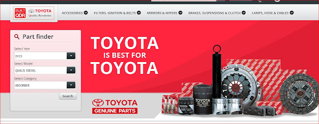 Toyota Kirloskar Motor launched First OEM online shop