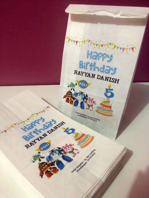 birthday tema robocar poli