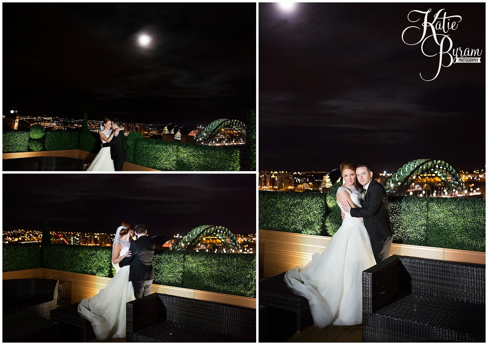 newcastle city centre wedding, the vermont hotel,vermont weddings, newcastle wedding venue, katie byram photography, hotel wedding newcastle, quayside, nighttime wedding photographs