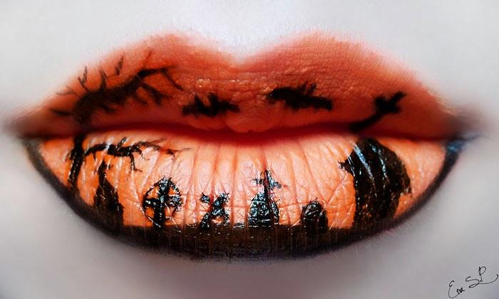 labios maquillados para halloween
