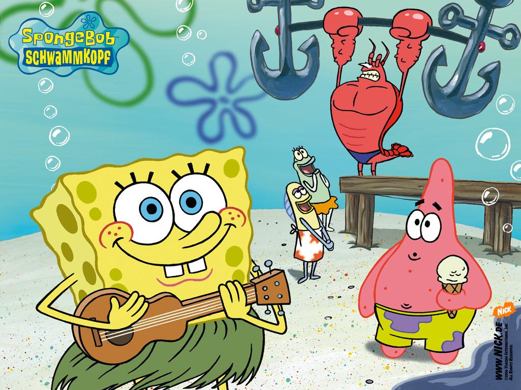 kartun spongebob and friend