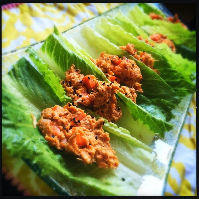Buffalo Chicken Salad Lettuce Wraps, perfect summer meal! The Graffitied Gardenia