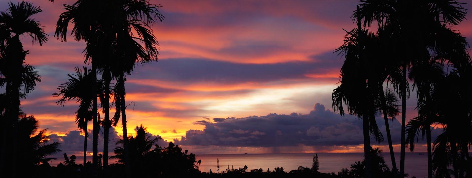 Sunset in Palau