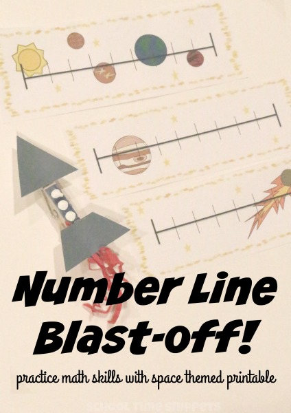 Practice math skills using space themed number line printable! Easy to ...