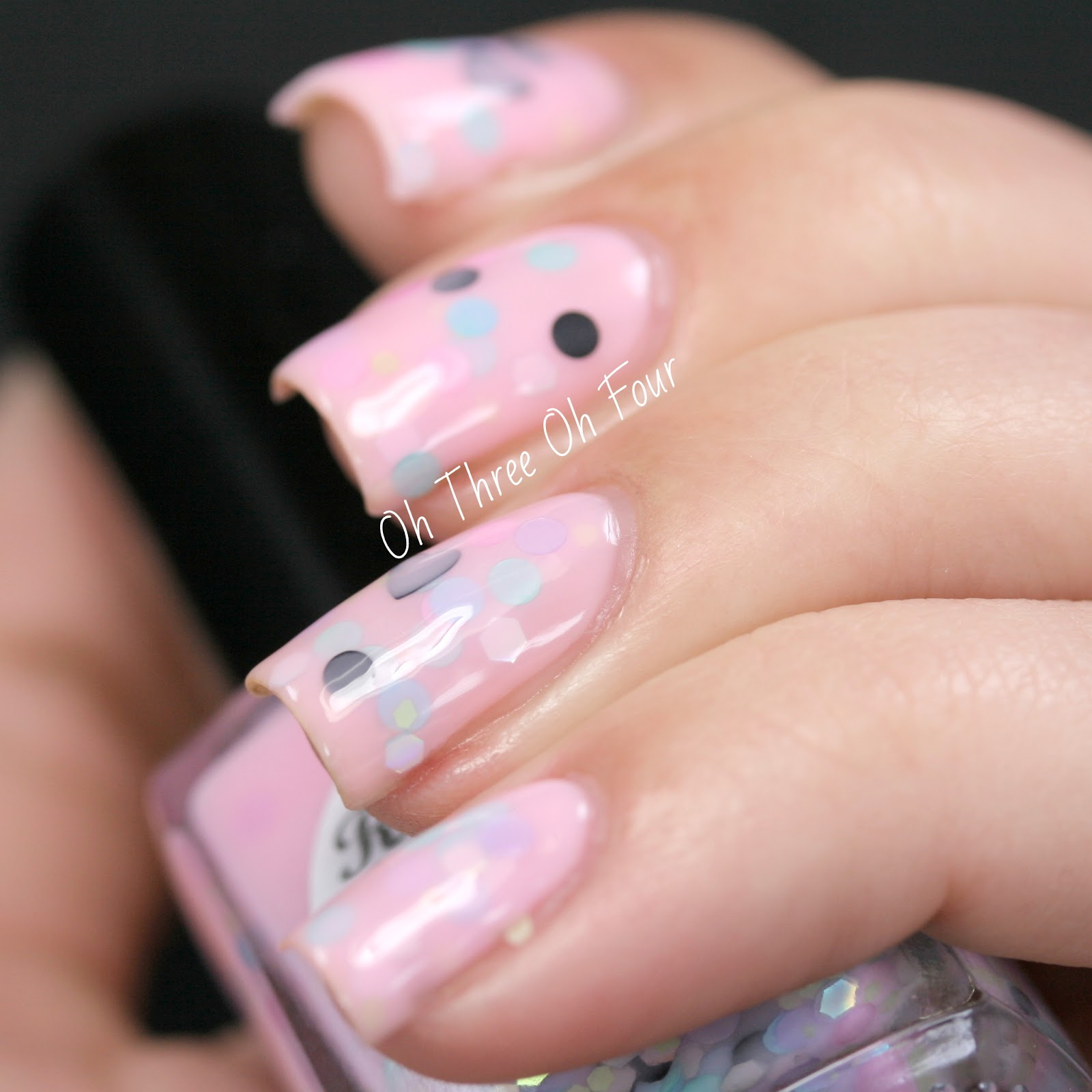 Rain City Lacquer Strawberry Milk & Macarons Swatch