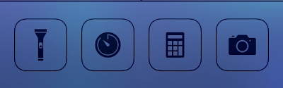 Tweaked clock icon in control center