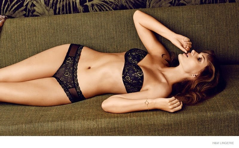 'Lovely in Lace' H&M Lingerie Lookbook 2014 starring Giedre Dukauskaite