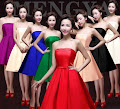 Eight-Color Vintage Strapless Midi/Past Knee Length Satin Dress