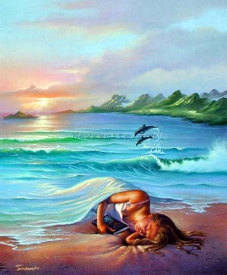 Beautiful Paintings In The World | Best Wallpapers Famous Dolphin Painting