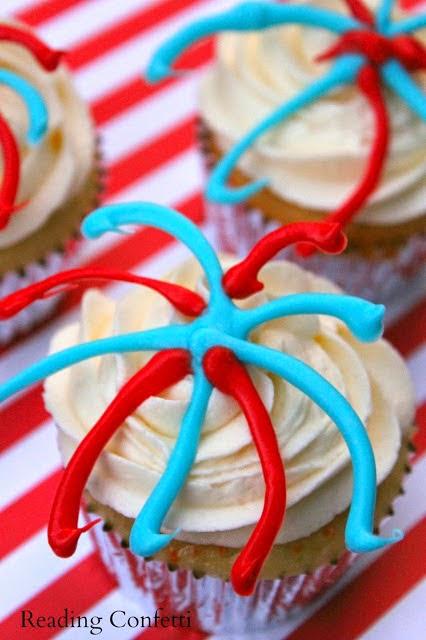 easy summer cupcakes firecracker cupcakes