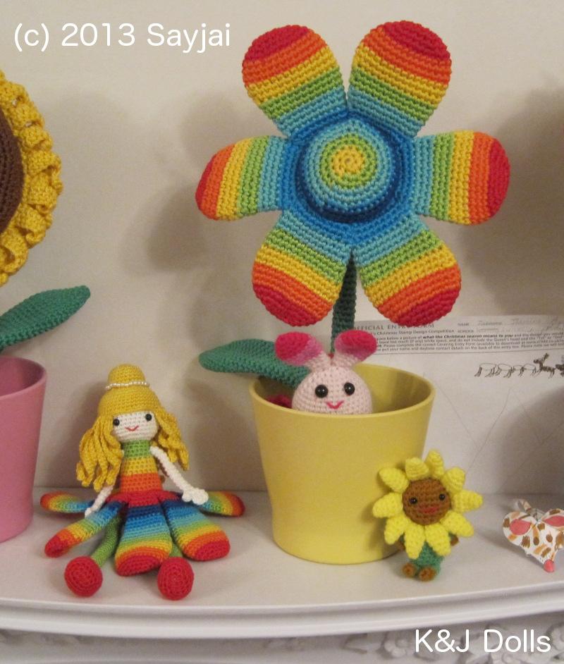 Blumen-Prinzessin und Regenbogen-Blume - Amigurumi ...