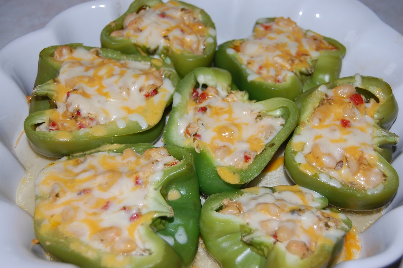 Cook! Create! Consume!: Chicken and White Bean Stuffed Peppers