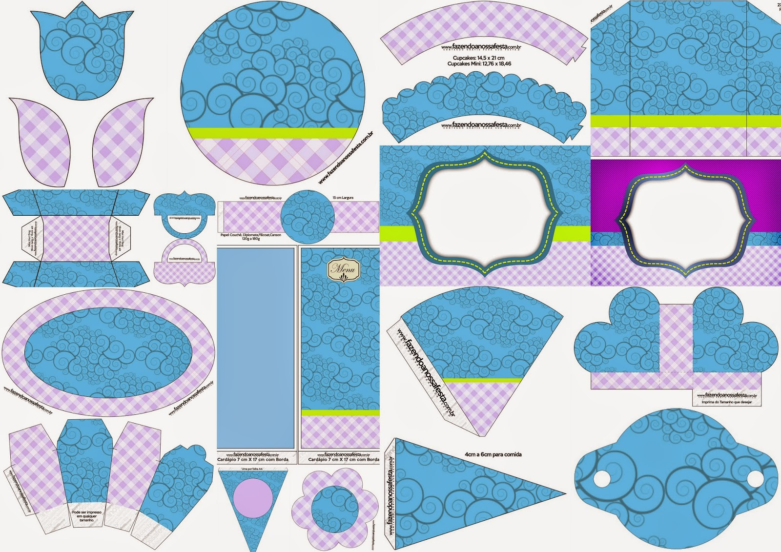 Curvas: Completo Kit para Fiestas para Imprimir Gratis.
