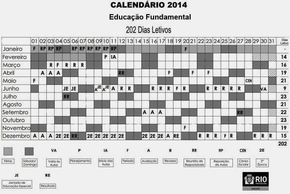 Calendário Letivo 2014