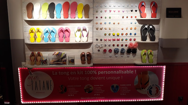 Présentation des tongs 100 % personnalisables My Tatane, 100 % Made in France.