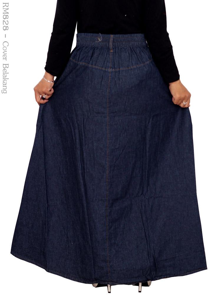 Rok Jeans Muslimah Rm828 Busana Muslim Murah Terbaru