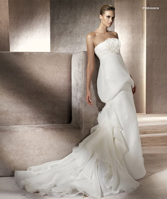 todo sobre bodas: vestido de novia primavera pronovias 2012 manuel mota