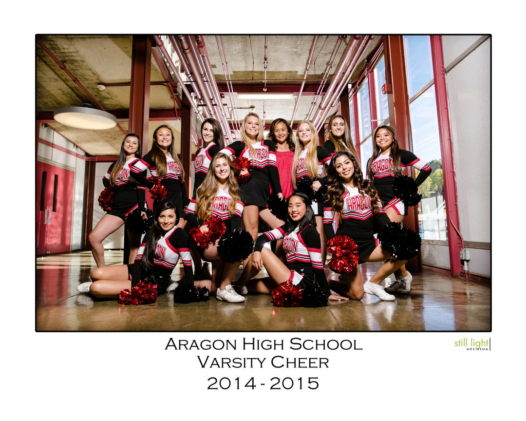 San Mateo Aragon High School Cheer Team Photo by Still Light Studios, School Sports Photography and Senior Portrait in Bay Area, cinematic, nature, cheerleaders