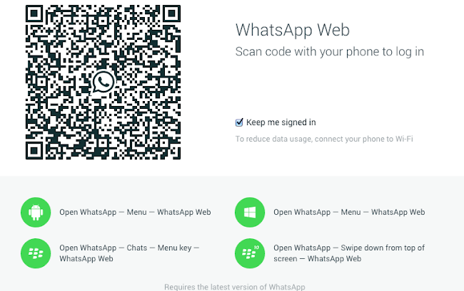 WhatsApp Web on iPhone 6