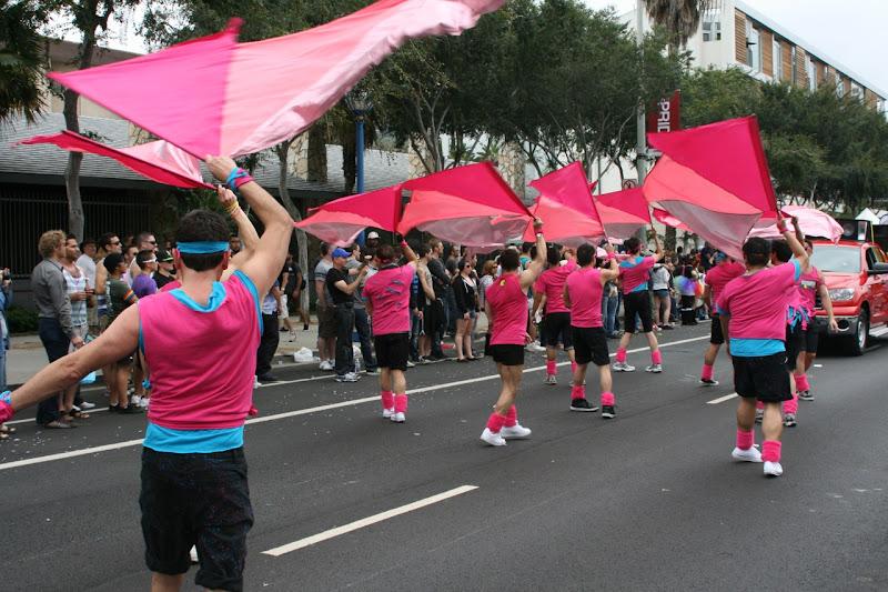 Gay Mens Chorus  WEHO Pride flag twirling