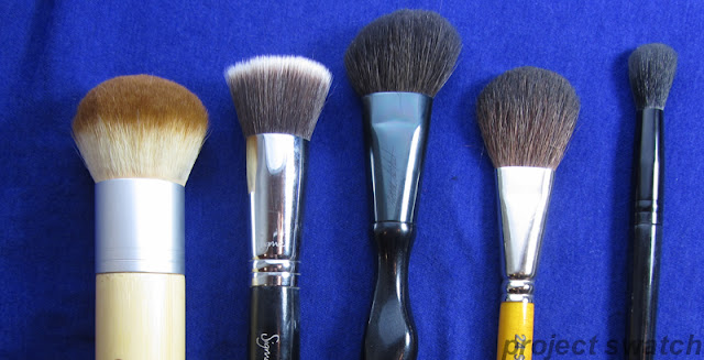 Ecotools Bronzer brush, Sigma F80, Sonia Kashuk Medium Angled Multipurpose brush, MUFE 24S,  Illamasqua Blending Brush 2