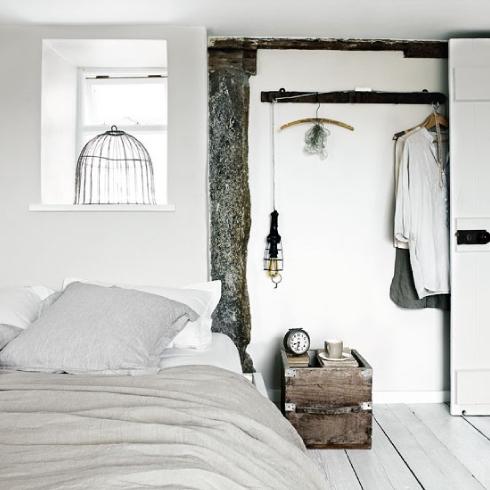 habitación blanca estilo nórdico