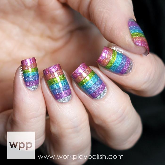 Cirque Heritage Collection Rainbow Nail Art