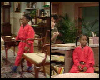 Cosby Show Huxtable fashion blog 80s sitcom Keshia Knight Pulliam Rusy Huxtable coveralls