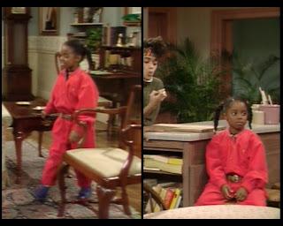 Cosby Show Huxtable fashion blog 80s sitcom Keshia Knight Pulliam Rusy Huxtable coveralls