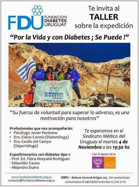 Taller sobre la expedición Por la vida y con diabetes ¡se puede! (SMU, 04/nov/2014)