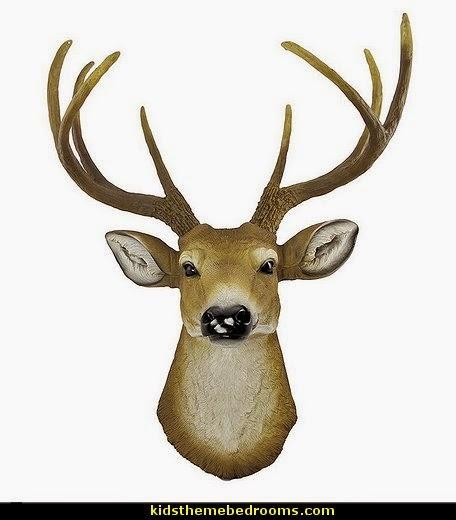 Buck Deer Head Bust Wall Hanging