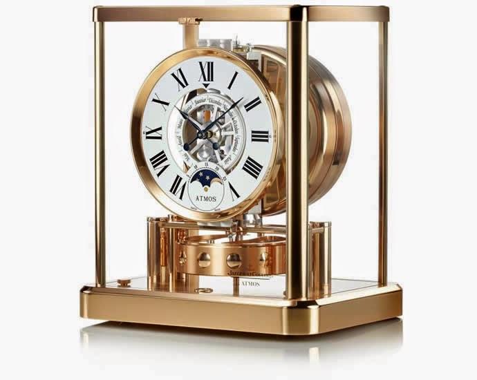 đồng hồ thụy sĩ vàng hồng nguyên khối atoms classique de lune