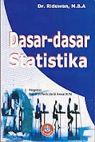 toko buku rahma: buku DASAR-DASAR STATISTIKA, pengarang riduwan, penerbit alfabeta bandung
