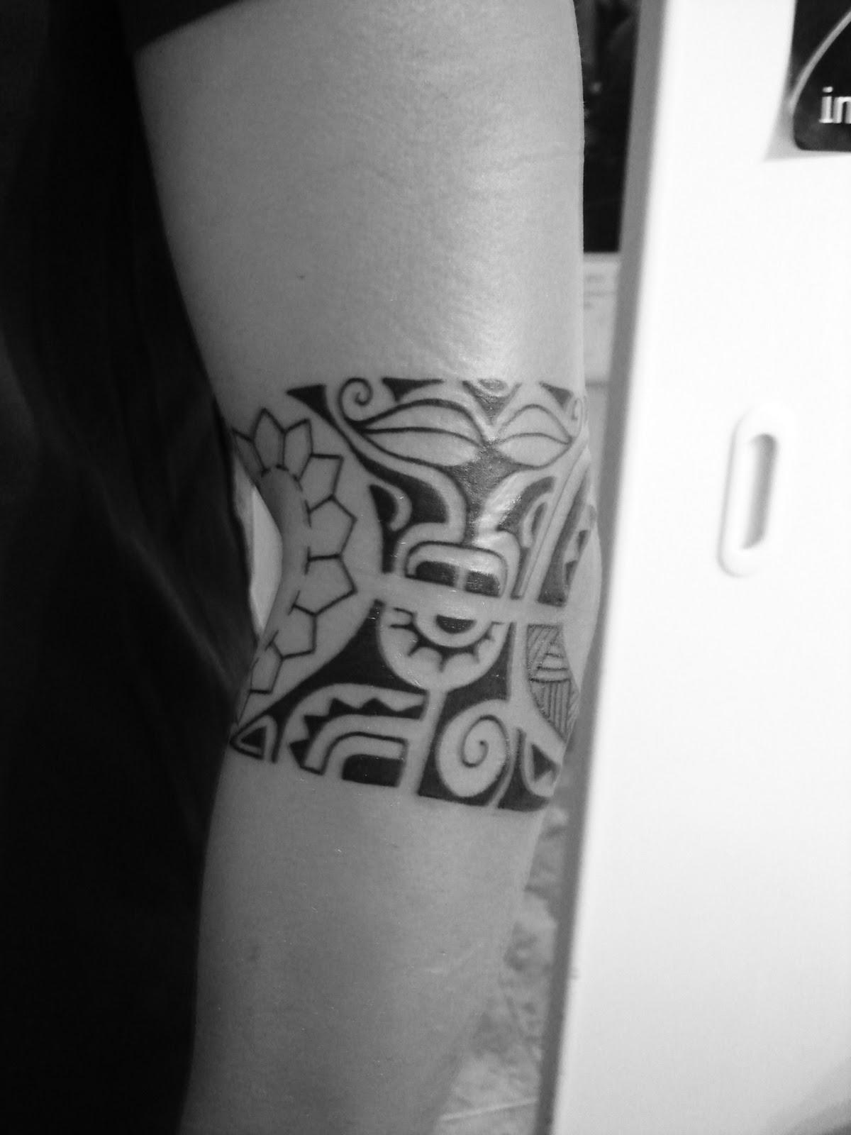 Toop Tattoo Tatuaje Brazalete Maori En Freehand Alicante Tatuaje - Maori-tattoo-brazalete