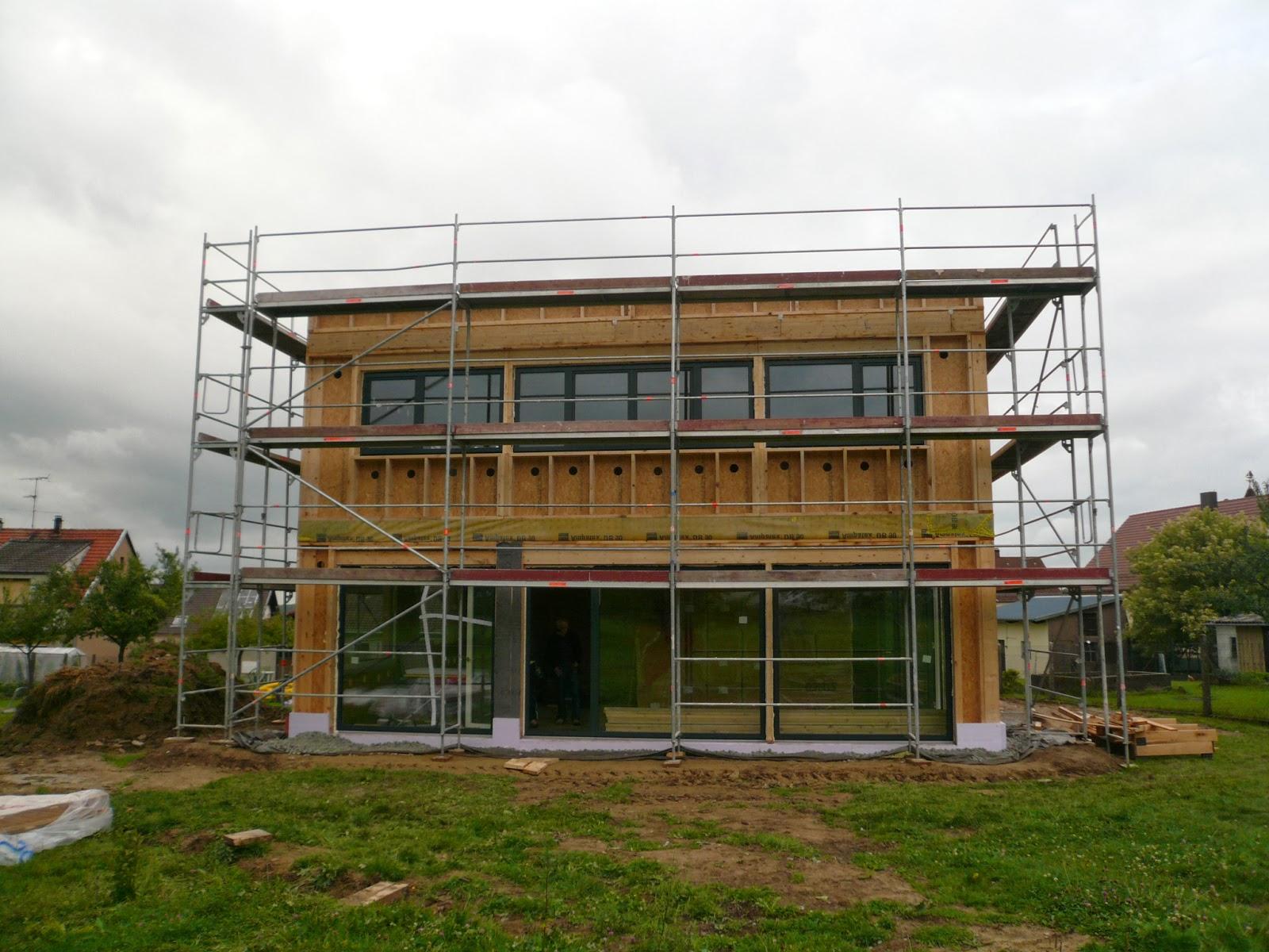 Maison passive structure bois ecocit la crois e des for La structure d une maison