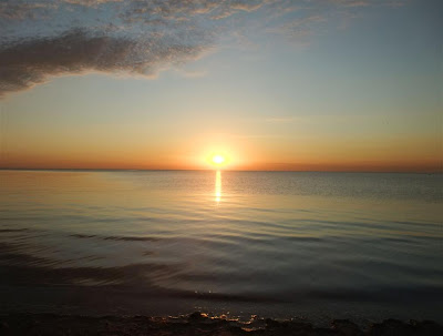 Sunset over Lake Erie, Michigan