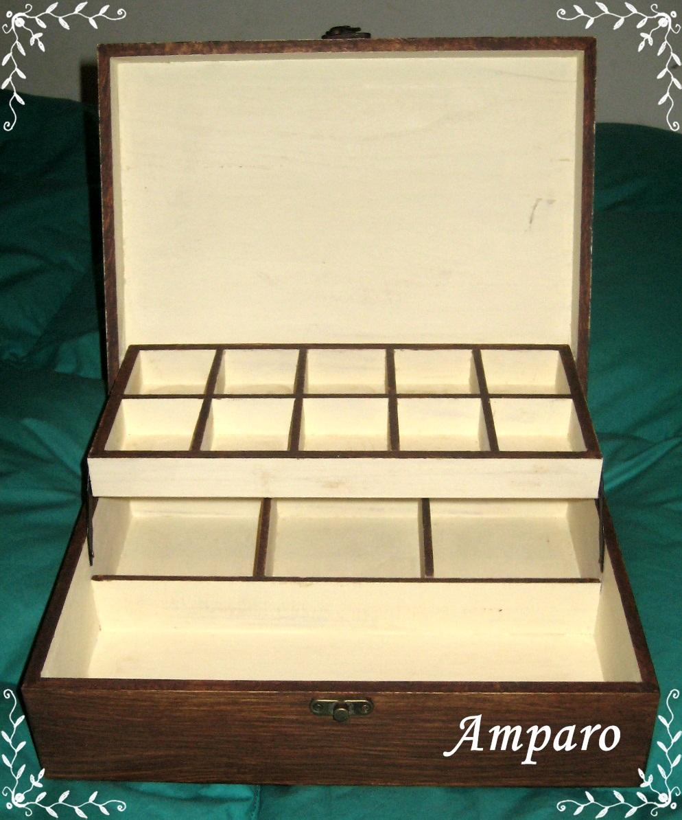 Caja Madera Decorado Joyero